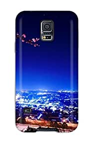 AMGake Galaxy S5 Hybrid Tpu Case Cover Silicon Bumper Beautiful City View At Night