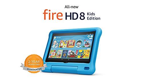 "All-new Fire HD 8 Kids Edition tablet, 8"" HD display, 32 GB, Blue Kid-Proof Case"