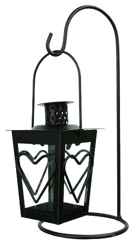 4EVER Black Classical Metal Candleholder Lantern Stand & a Tealight, Vintage European Style Gifts Decoration DreamsEden 4ever86