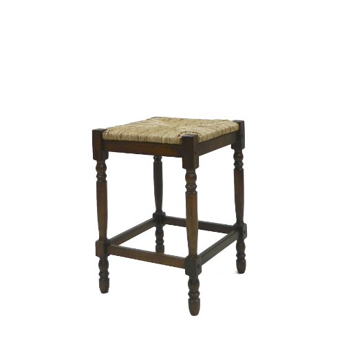 Carolina Chair and Table 24-Inch Chestnut Hawthorne Counter - Antique Bar Stools Carolina Cottage