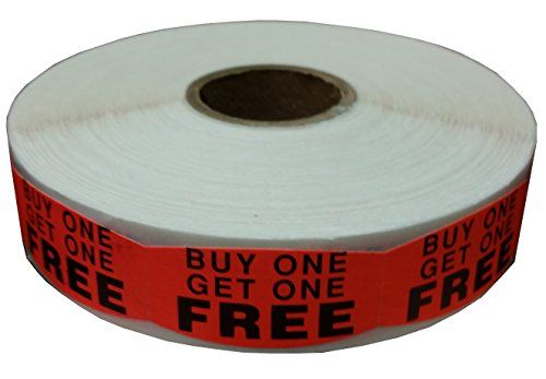 Buy One Get One Free Labels (1000/roll) -