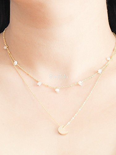 cresent-moon-moonstone-double-chain-necklace