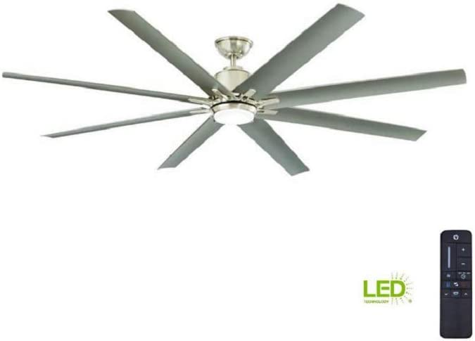 Home Decorators Collection Kensgrove 72 In Brushed Nickel Led Ceiling Fan With Remote Amazon Com