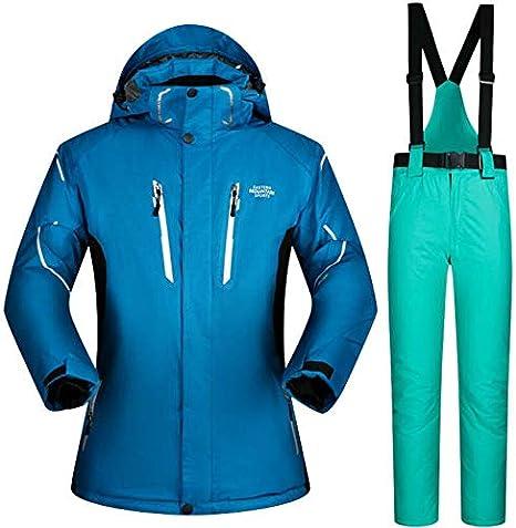 SHANGXIAN Hombres Traje de Esquiar Snowboard Chaqueta y Pantalones ...