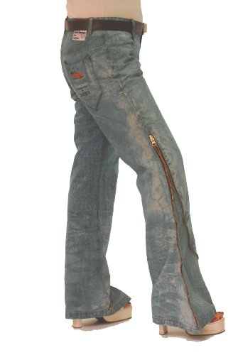 BUCK`s - LOHAS BJ94 Limited No.33 Öko Röhren/Schlag Jeans 31/31 blue -Miss twy-