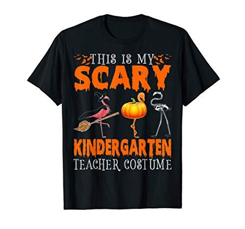 Halloween For Kindergarten (This Is My Scary Kindergarten Teacher Costume Flamingo Gifts)