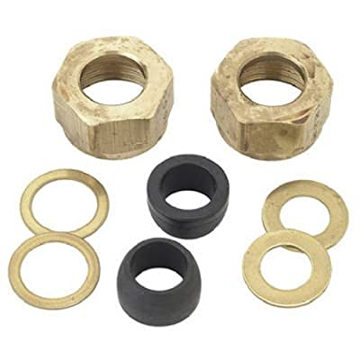 BrassCraft SF0459 Faucet Supply Kit with Shank Nuts, Cone Washers and Brass Washers
