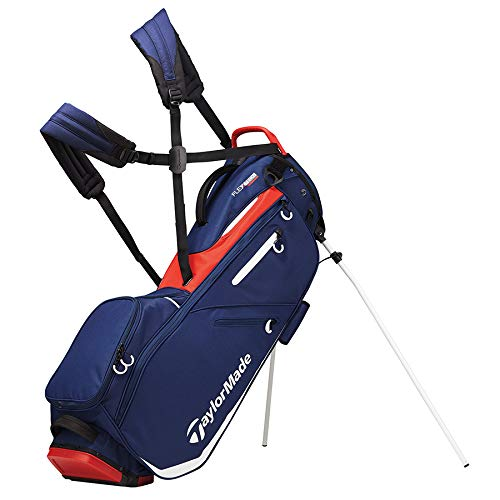 TaylorMade 2019 Flextech Stand Golf Bag, Navy/White/Red