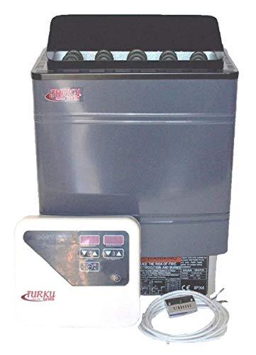 TURKU TU90WD-OD - Residential 9KW Wet & Dry 240V Sauna Heater Stove External CON5 Digital Controller