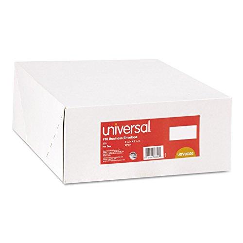 - Universal 36320 Side Seam Business Envelope, Side, 10, 4 1/8 x 9 1/2, White, 500/Box