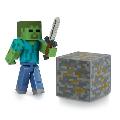 [Minecraft Core Zombie Action Figure with Accessory] (Womens Halloween Ideas)