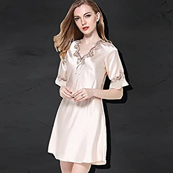 17c3d1fdaf70 Amazon libre para Home Rosa Deportes Pijamas Furnishing es TAOTINGYAN  Camisón aire Usan Mujer Pijama Las ...