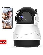 Victure 1080P Cámara IP WiFi,Cámara de Vigilancia FHD con Visión Nocturna, Detección de Movimiento,Audio de 2 Vías, 2.4GHz WiFi, Compatible con iOS/Android