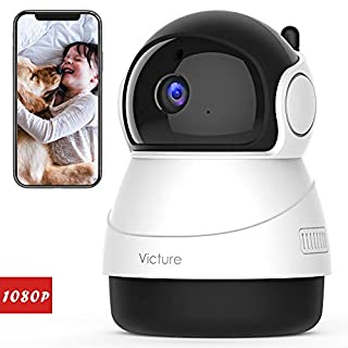 Victure 2020 Upgraded 1080P Pet Camera, FHD 2.4G WiFi Camera with Smart Motion Detection/Tracking, Sound Detection, Two-Way Audio, Night Vision, Cloud Service, iOS/Android
