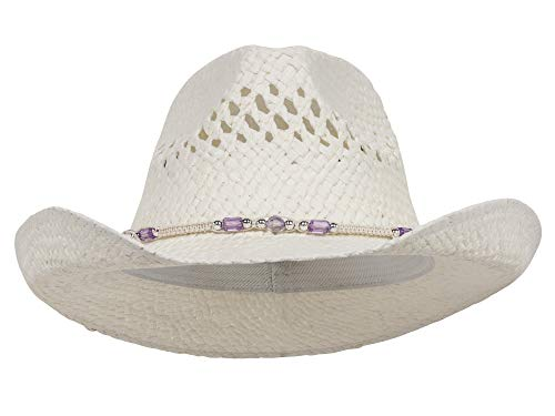 (MG Womens Straw Outback Toyo Cowboy Hat -)