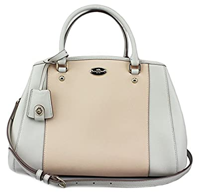 Coach Small Margot Carryall in Bicolor Crossgrain Leather, Style 34853