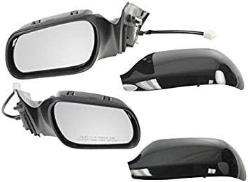 Gloss Black Power Side View Mirror Driver Left LH for 03-08 Mazda 6 Mazda6