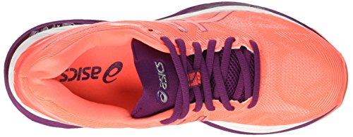 Running Purple 19 Asics Mujer de Flash Dark Naranja Coral Gel Nimbus para Zapatillas White wXr4qX70E
