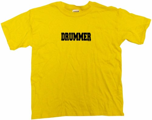 Vst Band Big (Drummer Big Boy's Kids Tee Shirt Youth XL-Yellow)