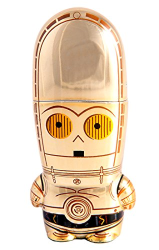 8GB C-3PO Star Wars USB Flash Drive with bonus preloaded Mimory content, Limited Edition MIMOBOT Character by Mimoco ()