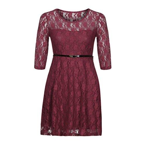3 4 Sleeve Lace Skater Dress 6dd411a34