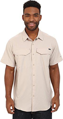 Columbia Mens Silver Ridge Lite Short Sleeve Shirt, Fossil, Medium