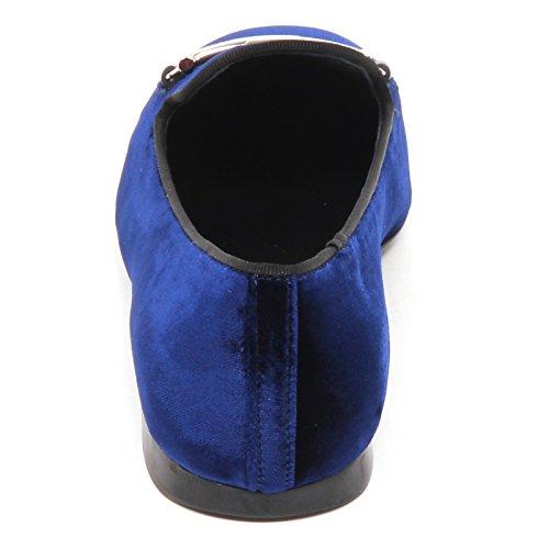 Tod's E2830 Scarpe Ballerina Velluto Velvet Blu Shoe Woman Donna ApnaUqA