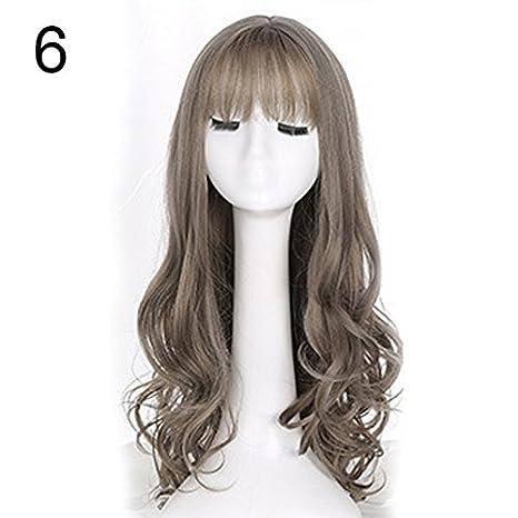 Espeedy 65 cm mujeres largo ondulado rizado completo pelucas Cosplay Hair Wig extensión accesorios