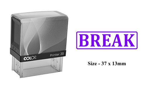 BREAK Self Inking Rubber Stamp Custom Colop Office Stationary Stamp ()