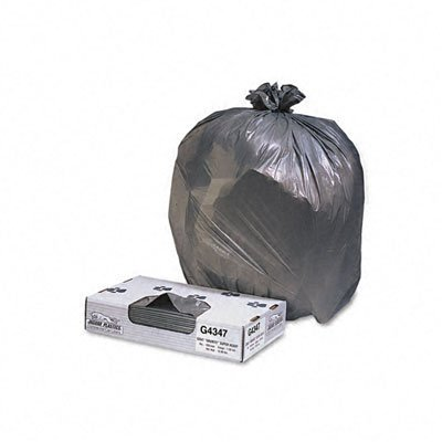 Jaguar Plastics Industrial Strength Low-Density Commercial Can Liner, 40-45 Gallons, Black, 100/Carton (G4046HBL)