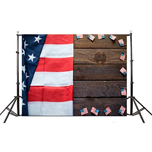 - minjiSF Flag BackgroundCarnival Vinyl Photography Backdrops for July 4 Home Decor Party Holiday Indoor Outdoor