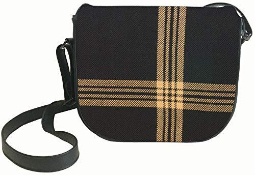 Inside Tartan with Leather Pocket Handbag Shoulder Bag and Black Back Celtic fWH0Hqn6