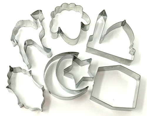 Eid & Ramadan Cookie Cutter Small Set - 7 Stainless Steel Cutters