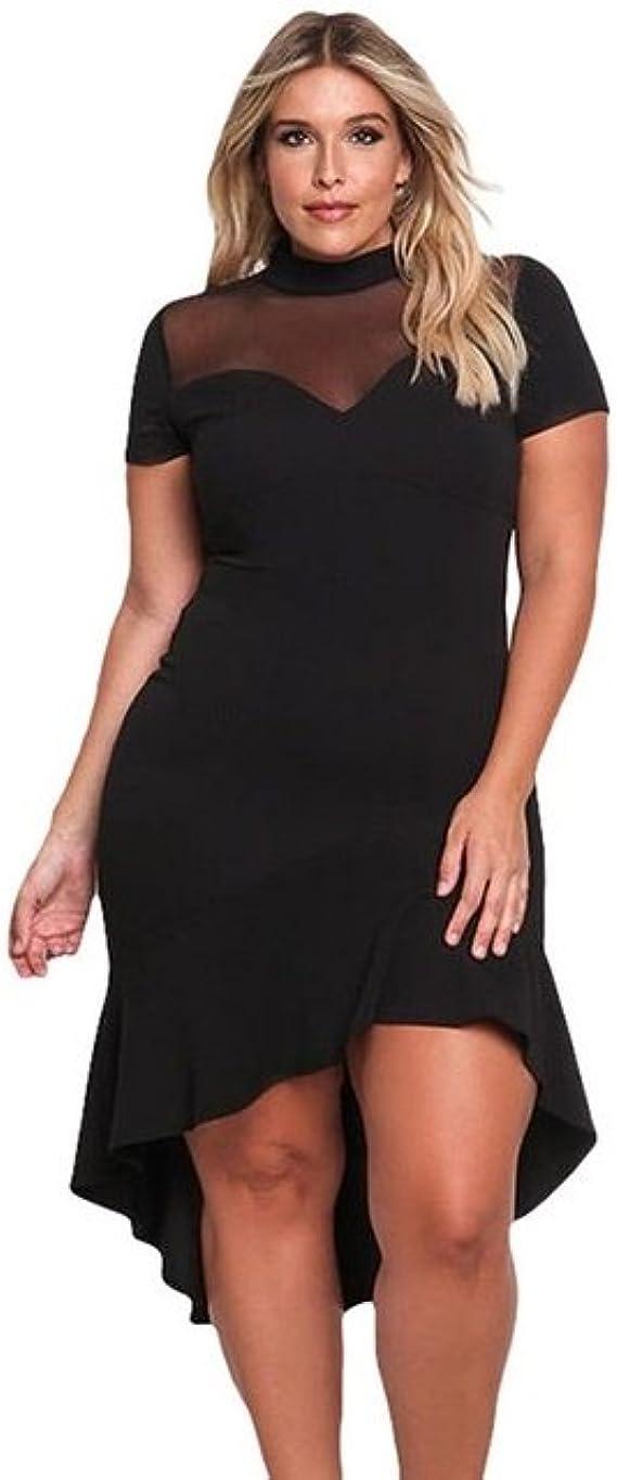 Amazon Com Vestidos Tallas Grandes Plus Ropa De Moda Para Mujer Sexys Casuales Largos De Fiesta Y Noche Elegantes Negro Xxl Negro Clothing