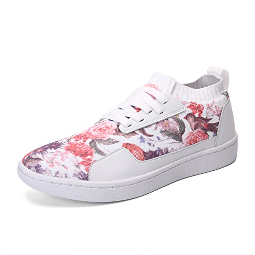 Print Lace Winter Skateboard Shoes Kuji Flower White Flyknit Casual Unisex Soulsfeng up Sneakers Sports Knit vTa4wx1q