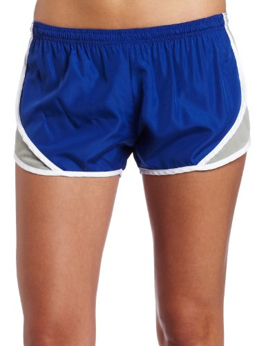 Soffe Women's Juniors' Team Shorty Shorts, Royal/Silver, Small