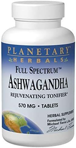 Ashwagandha 570mg Full Spectrum Planetary Herbals 120 Tabs