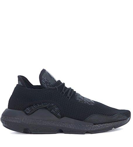 Adidas Y-3 Heren Y-3 Saikou Zwart En Grijs Technische Stof En Suède Sneaker Zwart