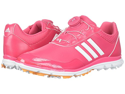 告白アセンブリ敬な(アディダス) adidas レディースゴルフシューズ?靴 Adistar Lite Boa Real Pink/Footwear White/Real Gold 9 (26cm) B - Medium