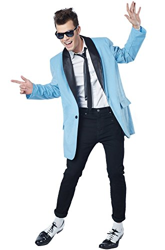 California Costumes Men's 50's Teen Idol, Blue/Black, Large ()