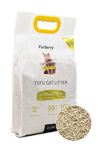 Furberry Clumping Cat Litter Tofu Natural Cat Litter Unscented