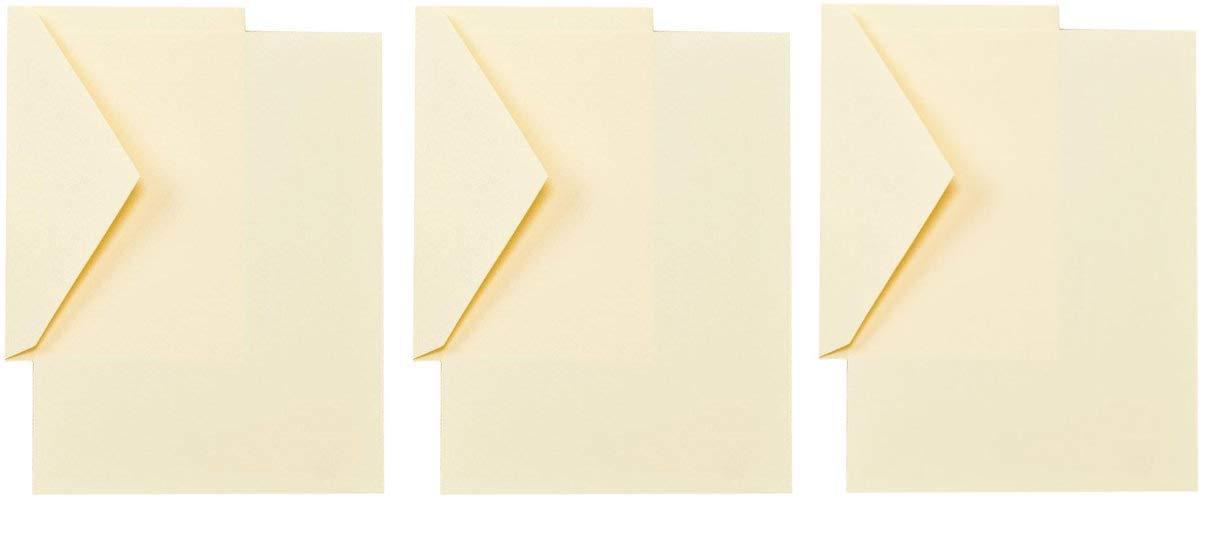 Crane CH3116 Ecruwhite Half Sheets,40 sheets / 20 envelopes (Тhrее Pаck)