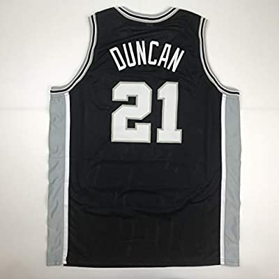 cc0ebcacc08 Unsigned Tim Duncan San Antonio Black Custom Stitched Basketball Jersey  Size Men s XL New No Brands Logos at Amazon s Sports Collectibles Store