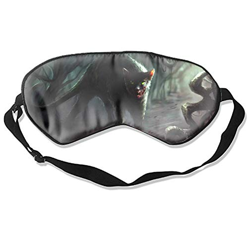 Spooky Scary Halloween Forest Cat Zombie Evil Travel Home Sleeping Eye Mask Cute Shading Eyeshade]()