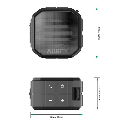 AUKEY Portable Bluetooth Speakers with Enhanced Bass and Built in Mic Outdoor Wireless Speaker Water Resistant for iPhone, iPad, Samsung by AUKEY (Image #5)