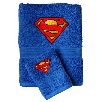 Superman DC Comics Juego de Toalla Azul Bordado Personalizado Toalla de mano 50x90cm + Flanela Toalla 30x30cm: Amazon.es: Hogar