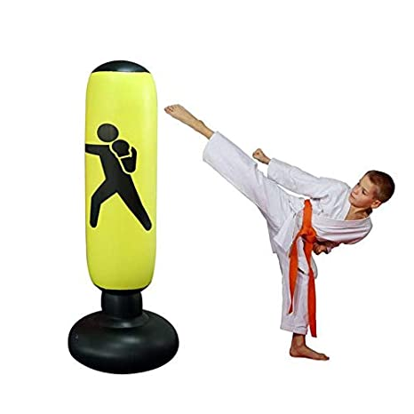 Amazon.com : Womdee Fitness Punching Bag, Inflatable Boxing ...