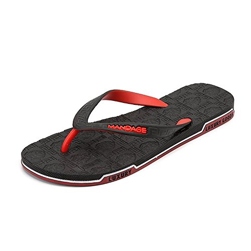 per da Marrone Infradito 43 Dimensione Scarpe in Rosso donna Jiuyue gomma EU uomo shoes uomo Color e 7IwqBxpz6