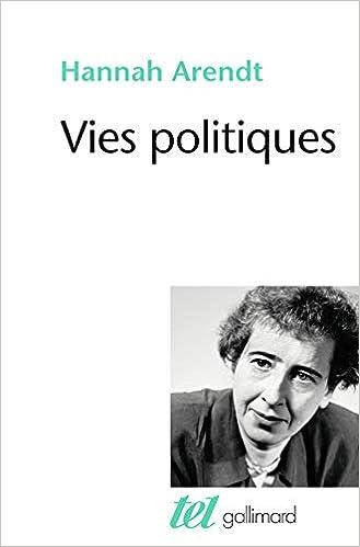 Vies Politiques Amazon Fr Hannah Arendt Livres