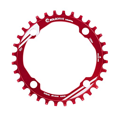 SOLODRIVE 104BCD Single Chain Ring for 9/10/11-Speed,Red,32T